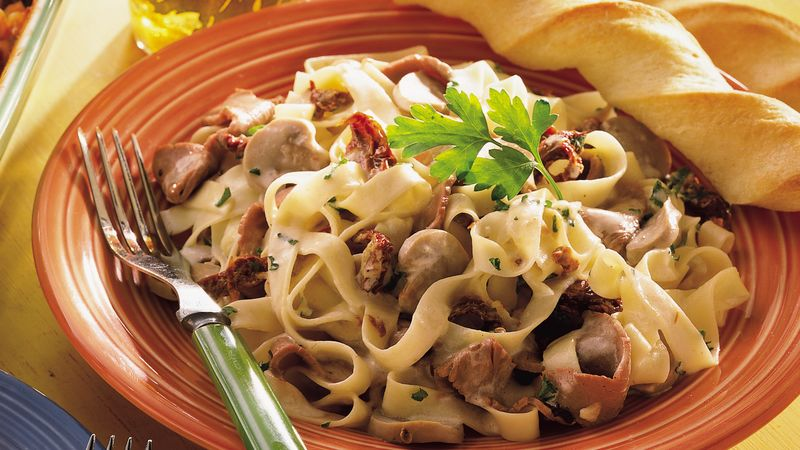 Creamy Beef With Fettuccine