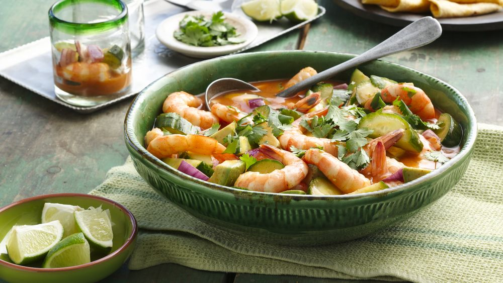 Mexican Gazpacho Shrimp Cocktail