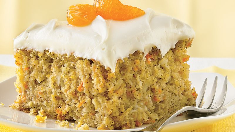Carrot Mandarin Orange Cake Recipe Bettycrocker Com