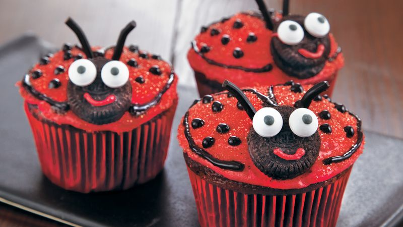 Ladybug Cupcakes Recipe Bettycrocker Com