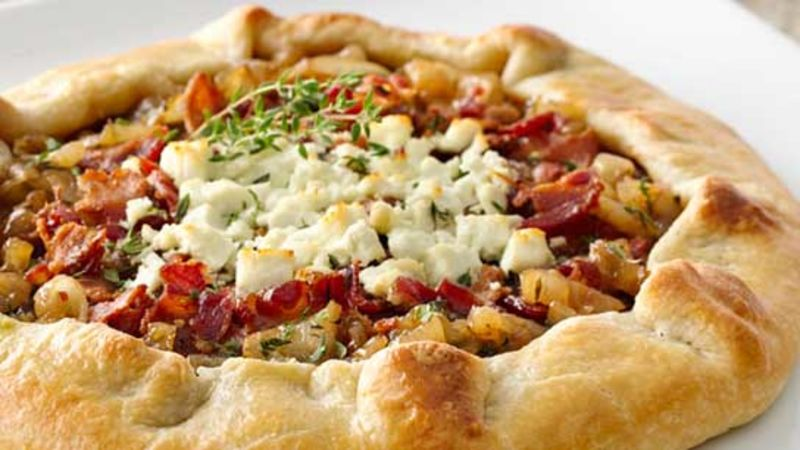 Caramelized Onion And Bacon Galette