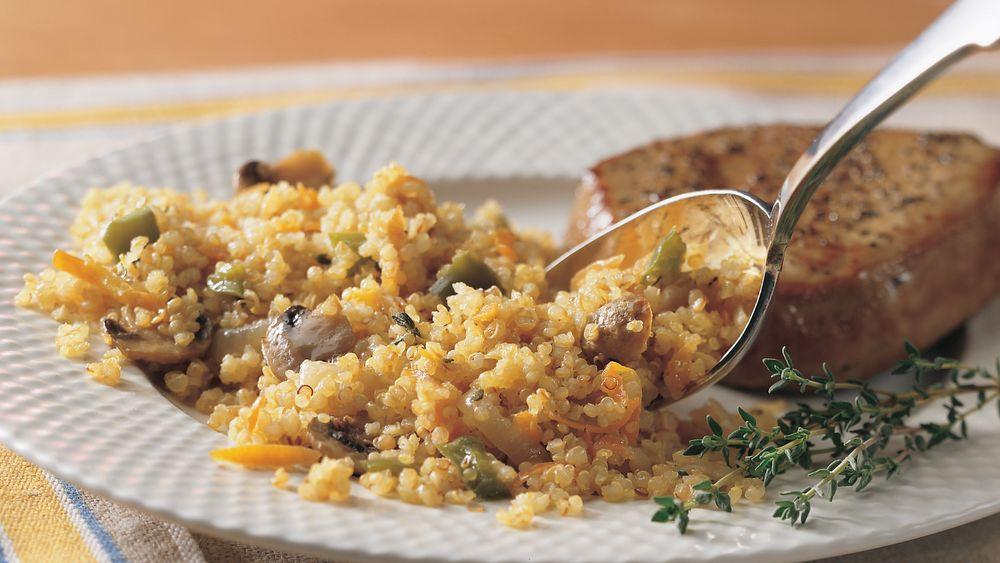 Onion and Mushroom Quinoa