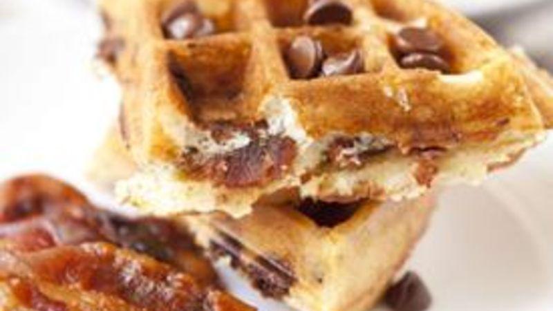 Chocolate Bacon Waffles