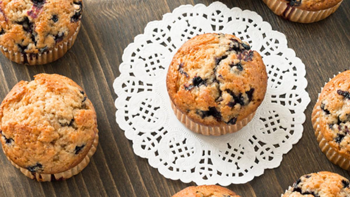 Muffins aux bleuets et au blé entier