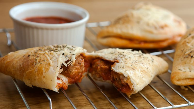 Meatball-Stuffed Dinner Pockets