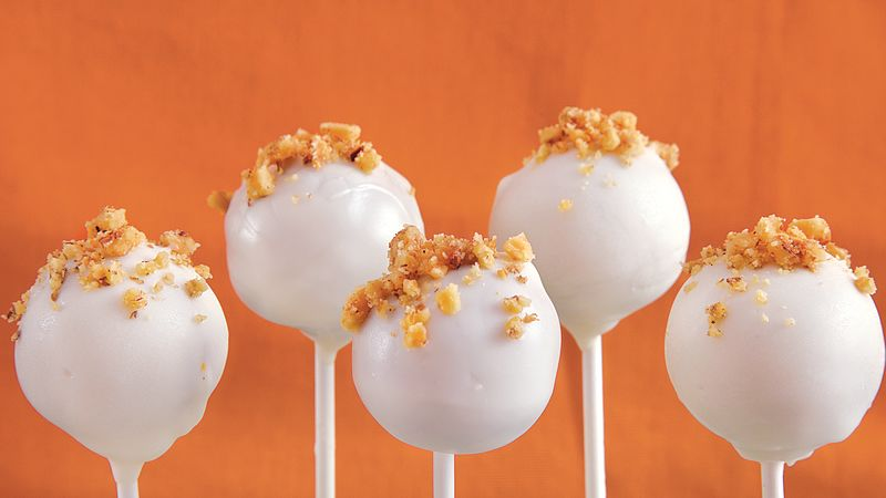 Carrot Cake Pops Recipe Bettycrocker Com
