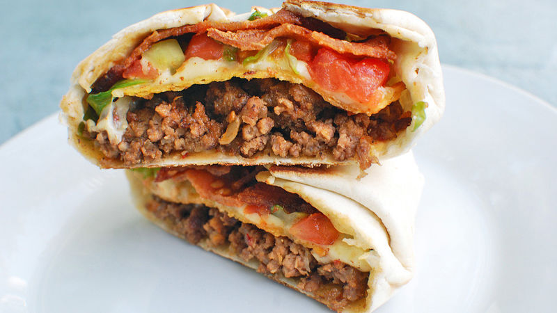Copycat Taco Bell™ Bacon-Taco Crunch Wrap