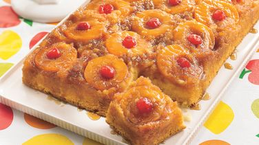 Peachy Pineapple Upside-Down Cake