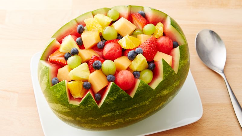 Carved Watermelon Bowl Recipe - BettyCrocker.com