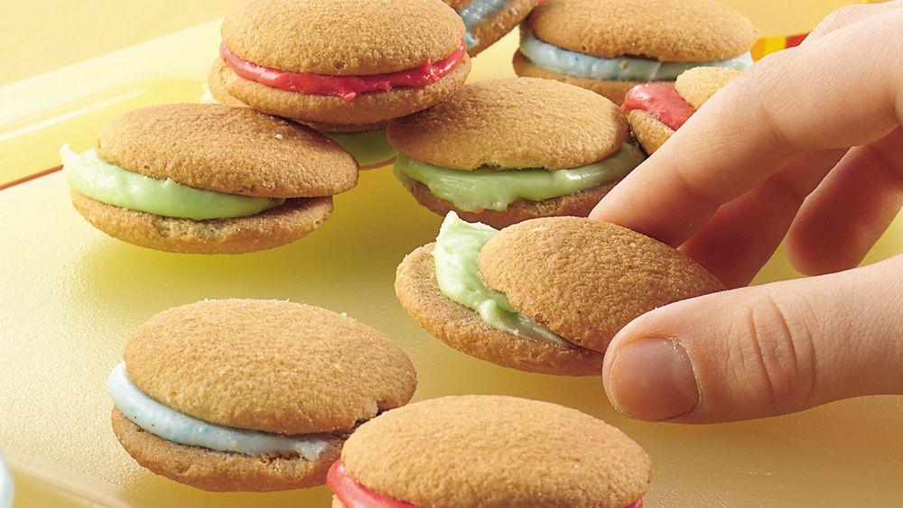 Rainbow Cookie Sandwiches