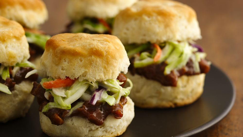 Barbecued Pork Biscuit Sliders