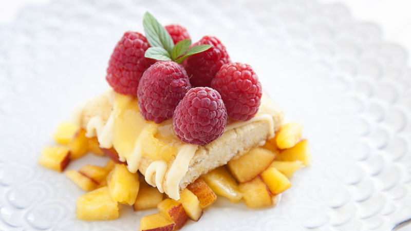 Peach Melba Lemon Bar
