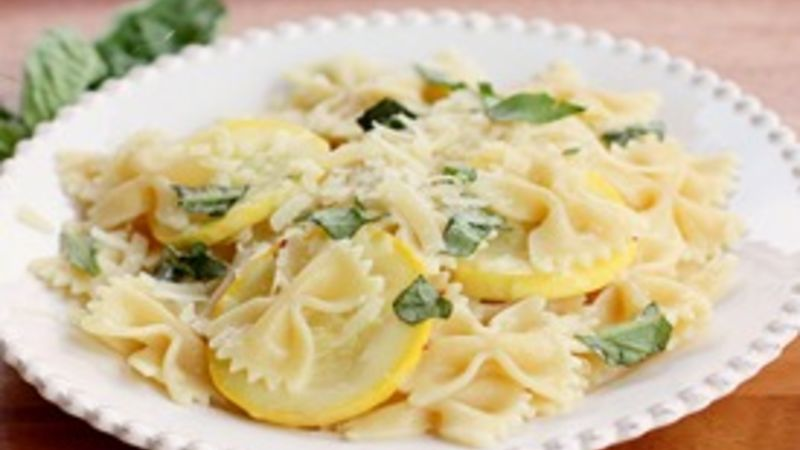 Pasta with Yellow Squash