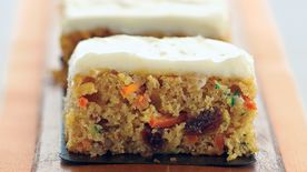 Skinny Carrot and Zucchini Bars