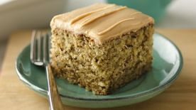 Banana-Nut Cake with Peanut Butter Frosting