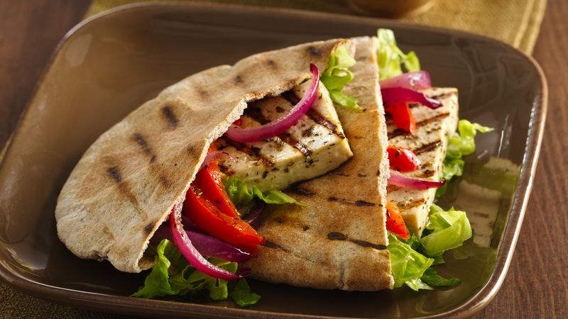 Grilled Marinated Tofu Gyros
