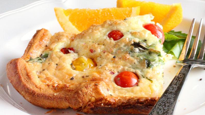 Make-Ahead Tomato-Crescent Quiche