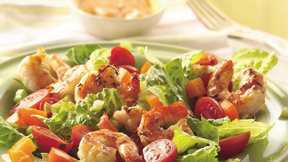 Grilled Shrimp Louis Salad