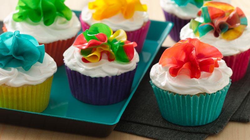 Fruity Flower Cupcakes