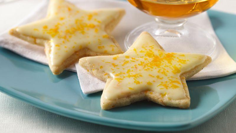 Spiced Orange Star Cocktail Cookies