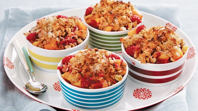 Mango-Raspberry Crisp