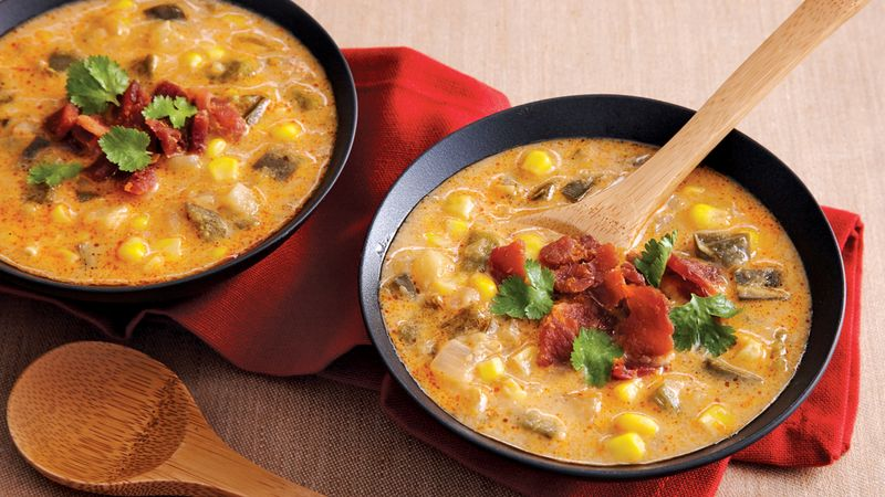 Spicy Mexican Corn Chowder Recipe - BettyCrocker.com