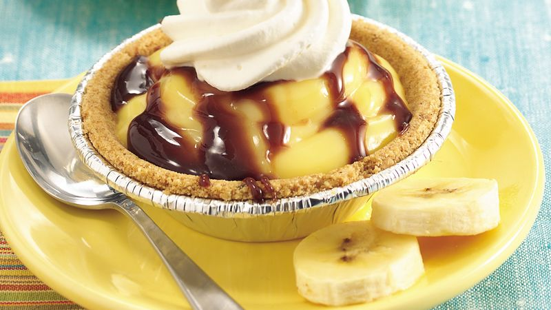 Banana-Chocolate Cream Tarts