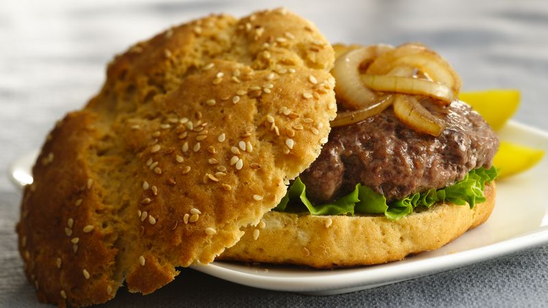 Gluten-Free Sesame Seed Hamburger Buns