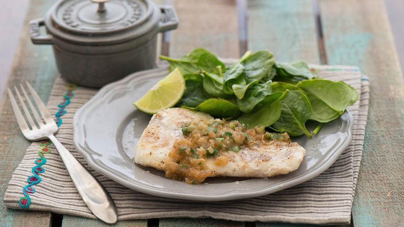 White Fish in Garlic Sauce