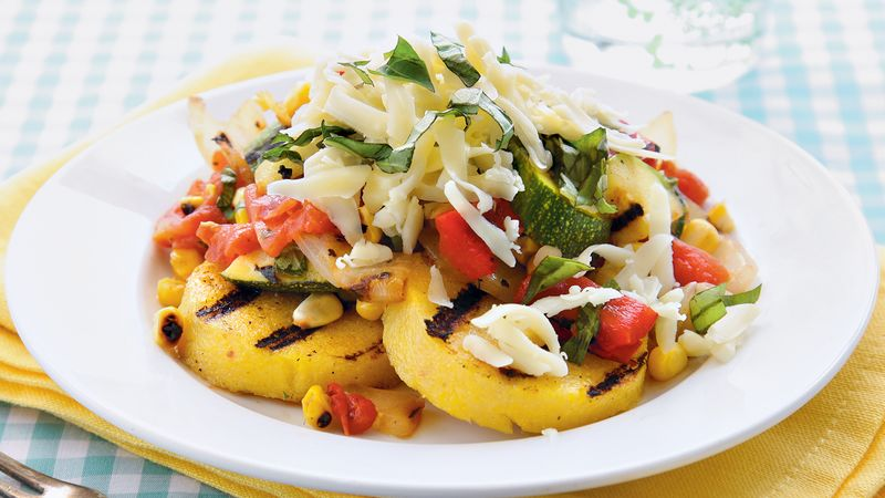 Grilled Polenta and Vegetables