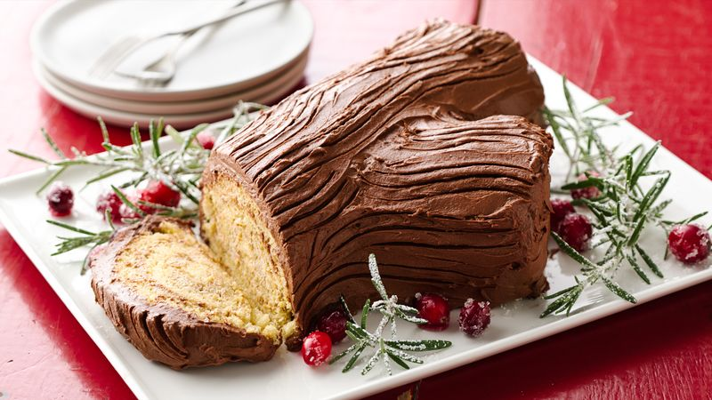 Buche De Noel With Buttercream Frosting Recipe Bettycrocker Com