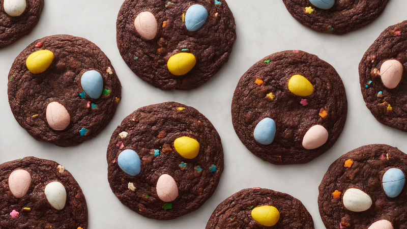 Easter Egg Brownie Cookies