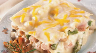 Ham and Asparagus Lasagna