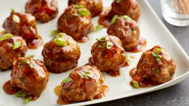 Asian Meatballs with Teriyaki Glaze