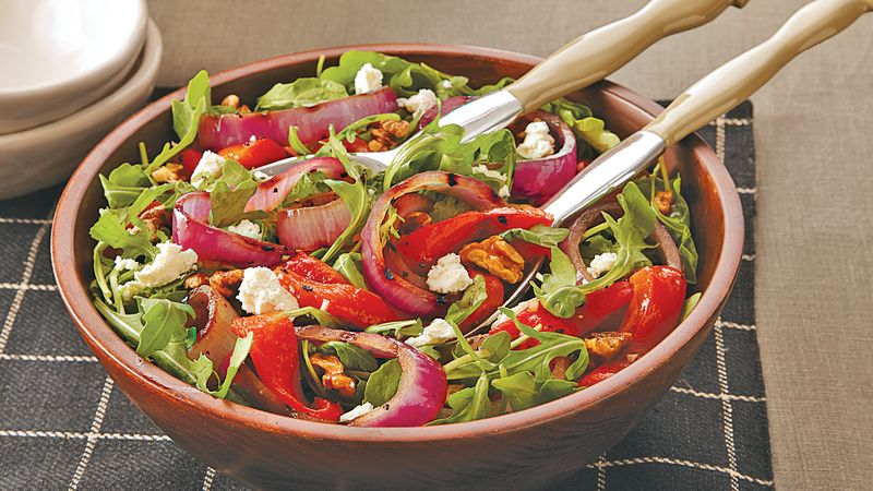 Red Pepper, Onion and Feta Salad