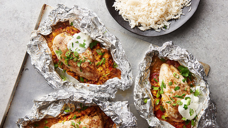 Indian Chicken Foil Packs