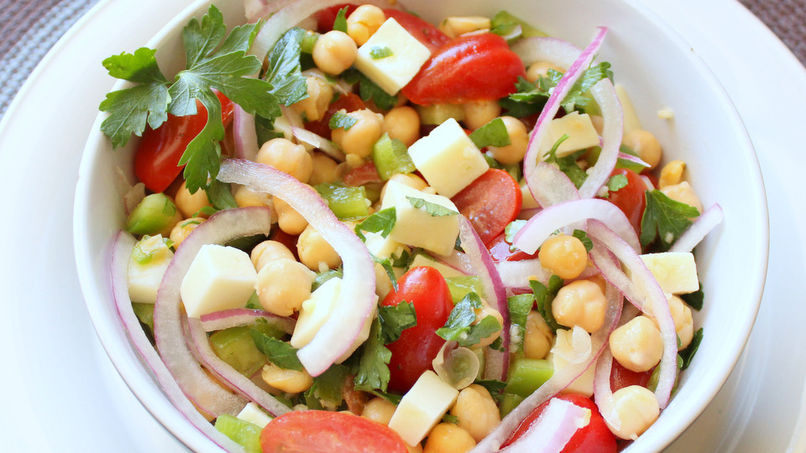 Chick Pea and Provolone Cheese Salad