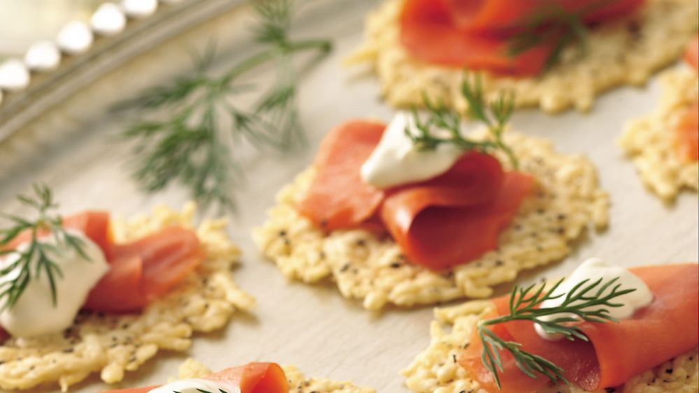 Parmesan Rounds with Lox