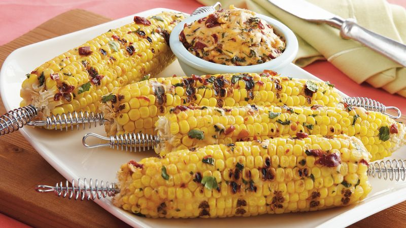 Grilled Corn and Chipotle Butter