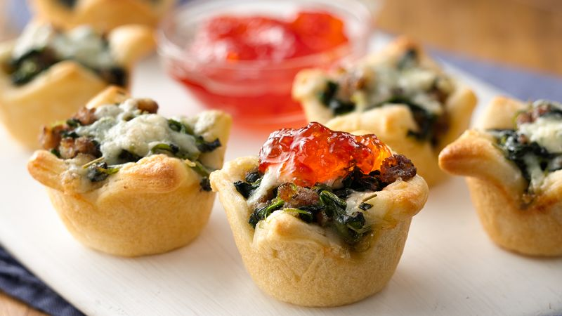 Sausage and Blue Cheese Crescent Cups