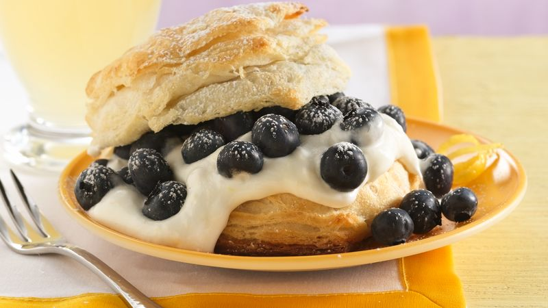 Lemon-Blueberry Shortcakes