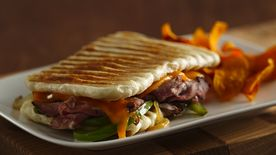 Philly Cheesesteak Panini