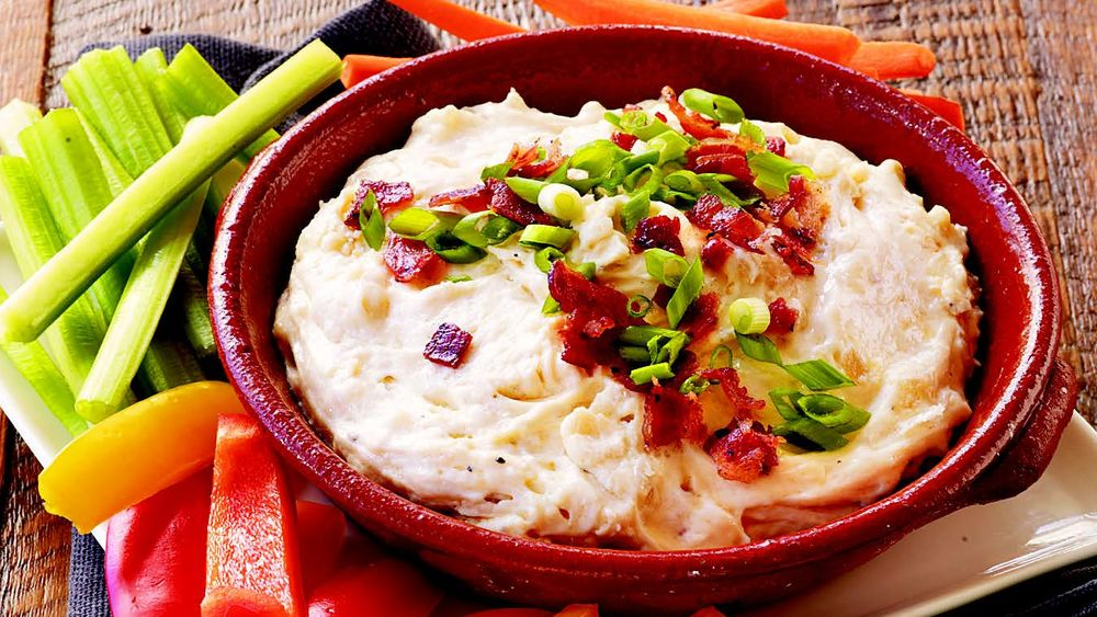 Warm Gruyère Bacon Dip