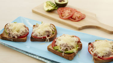 Creamy Avocado Tuna Melts