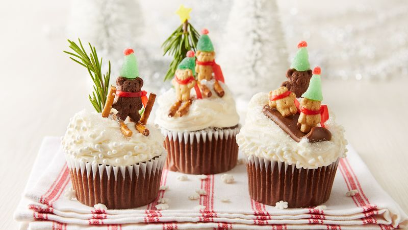 Teddy's Winter Wonderland Cupcakes