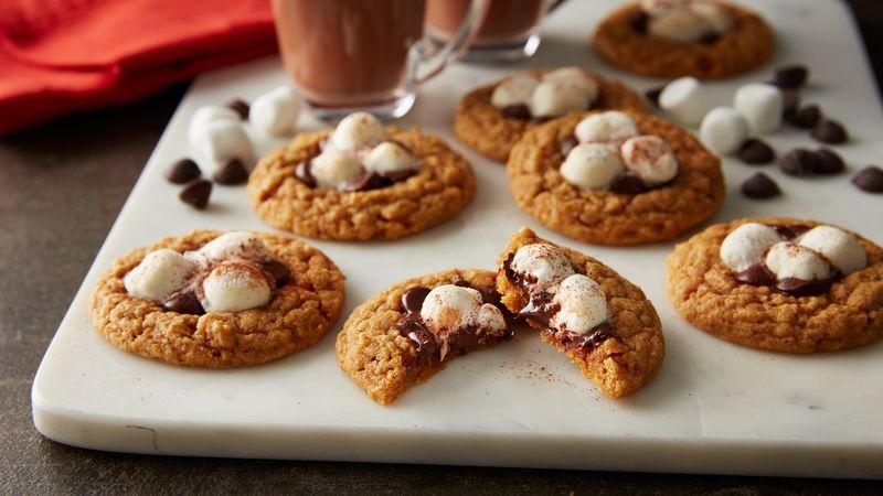 Pumpkin Spice Hot Cocoa Cookies