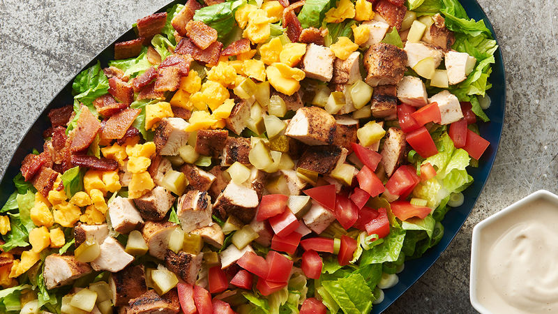 Chopped Chicken Salad with Pickleback Dressing