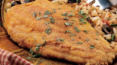 Mexi-Rice and Cornmeal-Crusted Fish