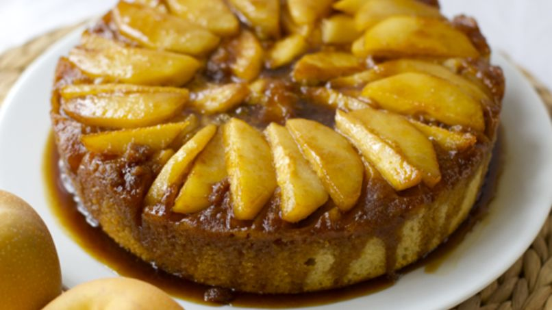 Asian Pear Upside Down Cake