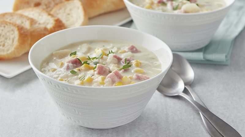 Easy Ham and Potato Corn Chowder